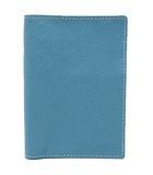 ワールドクローゼット world closet パスポート ケース カバー イタリアンレザー 本革 クラウディブルー 青