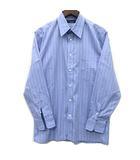 クリスチャンディオール Christian Dior ワイシャツ ストライプ コットン 長袖 ラベンダー 39 美品