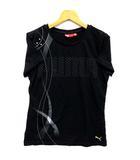プーマ PUMA Tシャツ カットソー 半袖 クルーネック スター ロゴ プリント ブラック 黒 L