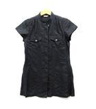 ケーティー キヨコ タカセ  K.T KIYOKO TAKASE K.T LINO スタンドカラー リネン シャツ チュニック 紐ベルト 半袖 ブラック 黒 9