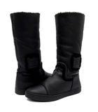 シャネル CHANEL ムートン ロング ブーツ スポーツライン ココマーク 羊革 G26539 ブラック 黒 38 約24cm
