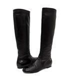 シャネル CHANEL ラムレザー ロング ブーツ ココマーク ワンポイント G27011 ブラック 黒 38 約24cm
