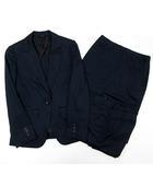 ヒルトン HILTON スーツ 上下 3点 セットアップ ジャケット パンツ スカート ストレッチ SUPER110S 5 紺 ネイビー 春夏