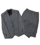 ヒルトン HILTON スーツ 上下 3点 セットアップ ジャケット パンツ スカート REDA SUPER110S 5 グレー チェック 春夏