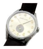 ハミルトン HAMILTON ジャズマスター シンライン スモールセコンド クォーツ 腕時計 クロコ 型押し レザー バンド H38411580 純正 Dバックル H640000151 新品同様