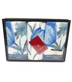 バレンシアガ BALENCIAGA ウォッシュタオル 3枚 セット 花柄 ホワイト ブルー