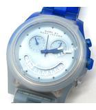 マークバイマークジェイコブス MARC by MARC JACOBS 腕時計 クロノグラフ レイバー RAVER アナログ クォーツ フェードブルー ディープ MBM4577