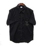 アヴィレックス AVIREX レスキュー シャツ 半袖 リネン コットン Wポケット ブラック 黒 M 美品