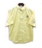 キャプテンサンタ CAPTAIN SANTA ボタンダウン 半袖 シャツ ロゴ 刺繍 イエロー 黄 M 美品