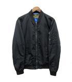 ザラマン ZARA MAN MA-1 ジャケット ブルゾン ジップアップ 薄手 ブラック 黒 L