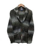 ビームスハート BEAMS HEART ニット カーディガン ショールカラー 長袖 ウール混 グラデーション チャコールグレー 灰 M 美品