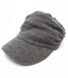 ハッシュアッシュ HusHusH ニット キャスケット キャップ 帽子 ウール混 グレー 57.5cm