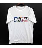 エフシーレアルブリストル F.C.Real Bristol FCRB スプラッター ボックスロゴ Tシャツ SPLATTER BOX LOGO TEE 半袖 クルーネック ホワイト 白 L 美品