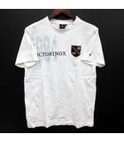 ビクトリノックス VICTORINOX Tシャツ 半袖 クルーネック エンブレム ワッペン ホワイト 白 S 美品