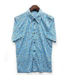 トルネードマート TORNADO MART ドット ストレッチ シャツ 半袖 ポリエステル ブルー 青 美品