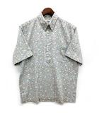 レインスプーナー reyn spooner ボタンダウン プルオーバー シャツ 半袖 フラワー 小花柄 グレー 灰