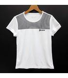 スリクソン SRIXON Tシャツ 半袖 ボーダー メッシュ UVカット テニス バドミントン ウェア ホワイト 白 M SDL-8821W