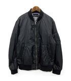 ユニクロ UNIQLO MA-1 フライトジャケット ブルゾン 中綿 ジップアップ ブラック 黒 M 美品