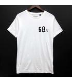 デウスエクスマキナ DEUS EX MACHINA Tシャツ TEE コットン 半袖 58X プリント クルーネック ホワイト 白 XS 美品 DMS41039A