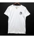 ディーゼル DIESEL UNDERWEAR Tシャツ コットン 半袖 ブレイブマン プリント クルーネック ホワイト 白 M 美品