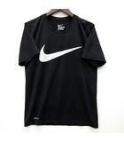 ナイキ NIKE Tシャツ レジェンド メッシュ スウォッシュ ロゴ 半袖 黒 ブラック M DRI-FIT