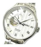 セイコー SEIKO プレザージュ 自動巻き メカニカル 腕時計 ジャパニーズガーデン 限限定ストアモデル SS 裏スケ SARY153 4R39-00W0 ホワイト 超美品