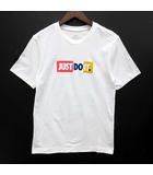ナイキ NIKE JUST DO IT JDI バンパー Tシャツ 半袖 プリント ホワイト 白 XS 美品 CK2306-100