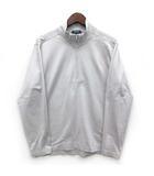 アレグリ allegri ハーフジップ ポロシャツ プルオーバー 長袖 ボーダー メッシュ グレー 灰 48 美品