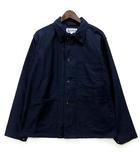 エンジニアードガーメンツ Engineered Garments ユーティリティ ジャケット WORKADAY Cotton Reversed Sateen ネイビー 紺 S 極美品