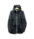 エレッセ ellesse ウインド ジャケット フード付き ジップアップ 撥水 裏起毛 テニス ブラック 黒 XL 大きいサイズ