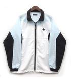 ダンロップ DUNLOP テニスウェア ウインドブレーカー ジャケット 長袖 ロゴ刺繍 ホワイト 白 M