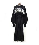 ノルディック ドレス ニット セットアップ ワンピース 長袖 ロング イレヘム ブラック 黒 F 美品 RWNO194059