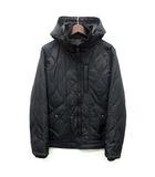 アルファ ALPHA キルト パーカー 中綿 ジャケット ジップアップ 収納フード付き ブラック 黒 M 美品