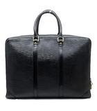 ルイヴィトン LOUIS VUITTON エピ ビジネスバッグ ポルトドキュマン ヴォワヤージュ 黒 ノワール M40321 ゴールド金具