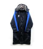 ロット lotto ベンチ ロング コート 中綿 フード付き シャドーストライプ 裏ボア ブラック 黒 M LSW7604L サッカー