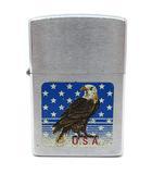 ジッポー ZIPPO オイル ライター アメリカンイーグル スター 1994年 USA製 シルバー ブルー 着火確認済み