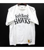マジェスティック MAJESTIC ソフトバンクホークス SoftBank HAWKS 柳田悠岐 背番号 Tシャツ 半袖 白 ホワイト L