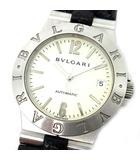 ブルガリ BVLGARI ディアゴノ スポーツ 自動巻き メンズ 腕時計 ウォッチ LCV35S レザーベルト 革バンド ホワイト 白文字盤