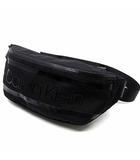 カルバンクライン CALVIN KLEIN STRIPED ウエストバッグ バムバッグ 黒 ブラック K50K505522 美品