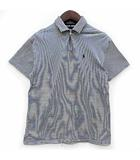 ポロゴルフ ラルフローレン POLO GOLF RALPH LAUREN ボーダー ポロシャツ 半袖 ワンポイント ネイビー 紺 S