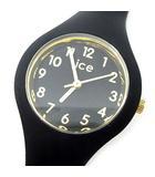 アイスウォッチ ICE-WATCH アイスグラム ICE glam ナンバーズ エクストラスモール 腕時計 クォーツ ウォッチ ラバー 015342 ブラック ゴールド