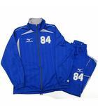 ミズノ MIZUNO ジャージ 上下セット トレーニング ジャケット パンツ ストライプ 青 ブルー M
