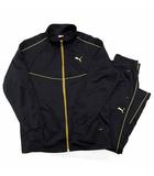 プーマ PUMA ジャージ 上下セットアップ トレーニング ジャケット パンツ 黒 金 ブラック ゴールド S 512912 51291