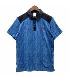 アディダス adidas NEO デニム ミックス ポロシャツ 半袖 ワンポイント ネイビー 紺 S A97660