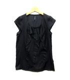 デプレ DES PRES トゥモローランド フリル  ブラウス 半袖 フレンチスリーブ プルオーバー ブラック 黒 1