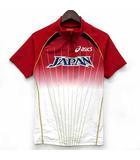 アシックス asics 第12回世界陸上競技選手権大会 日本代表 レプリカ レーシング ハーフジップ シャツ 半袖 XT701J レッド 赤 L