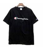 ロゴ  プリント ベーシック Tシャツ カットソー 半袖 クルーネック C3-P302 ブラック 黒 L 美品