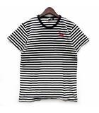 ボーダー リンガー Tシャツ カットソー 半袖 ポケット DXM STRIPE TEE - BLACK BLANC ブラック 黒 S