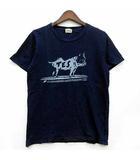 BUHI Tシャツ カットソー 半袖 クルーネック インディゴ S KE-7574368 美品