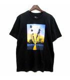 ナイキ NIKE Tシャツ カットソー 半袖 クルーネック SUNSET PALM T-shirt BQ0716-010 ブラック 黒 L 美品